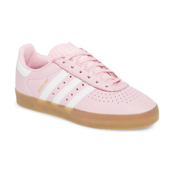 Adidas 350 sneaker in wonder pink/ white/ gum - Dot perforations at the toe and sides further the cool,...
