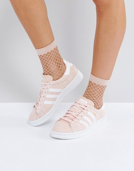Adidas Originals Campus Sneaker In Pale Pink in pink - Sneakers by Adidas, Faux-suede upper, Lace-up fastening,...