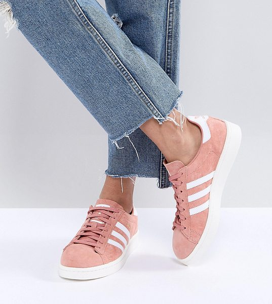 Adidas adidas Originals Campus Sneakers In Pink in pink - Sneakers by adidas, Suede upper, Lace-up fastening,...