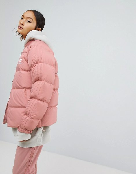 Adidas Originals down filled padded jacket in pink
