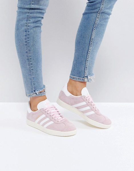 Adidas Gazelle In Pale Pink in pink - Sneakers by adidas, Suede upper, Lace-up fastening,...