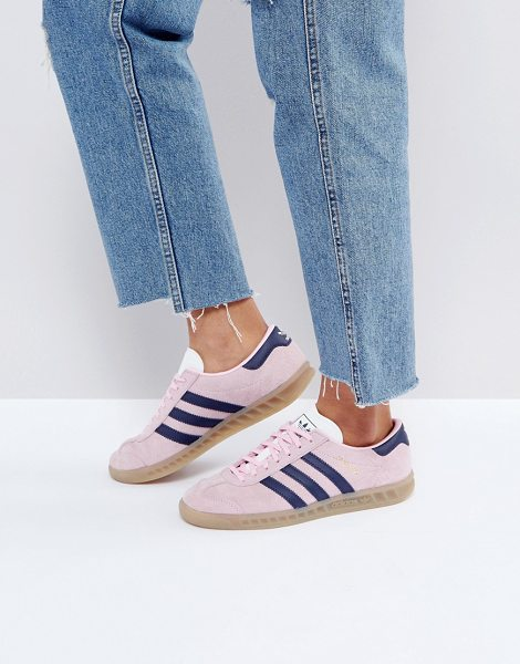 Adidas adidas Originals Hamburg Sneakers In Pink in pink - Sneakers by adidas, Suede upper, Lace-up fastening,...