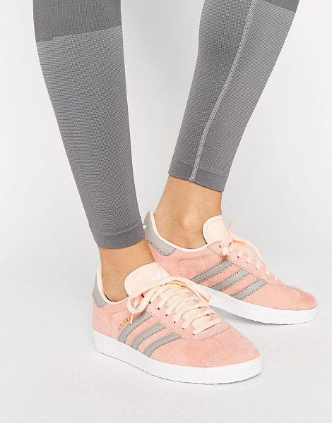 Adidas Haze Coral Gazelle Sneakers in pink - Sneakers by Adidas, Suede upper, Lace-up fastening,...