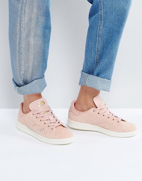 Adidas Originals haze coral stan smith sneakers in hazecoral - Sneakers by Adidas, Suede upper, Lace-up fastening,...