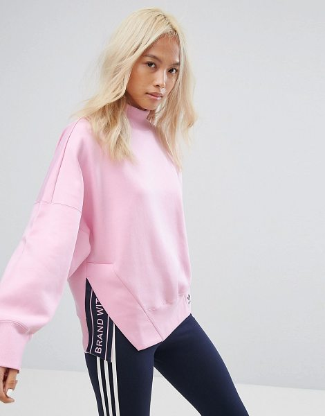 "Adidas adidas Originals High Neck Sweatshirt In Pink in pink - """"Sweatshirt by Adidas, Soft-touch sweat, High neck,..."