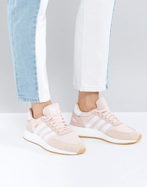 ADIDAS adidas Originals Iniki Sneaker In Pale Pink - Sneakers by Adidas, Durable textile upper, Suede...