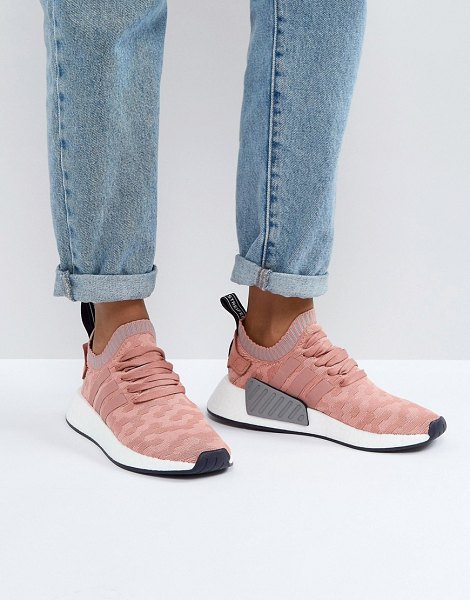 Adidas Originals nmd r2 sneakers in pink - Sneakers by adidas, Breathable knitted upper, Lace-up...