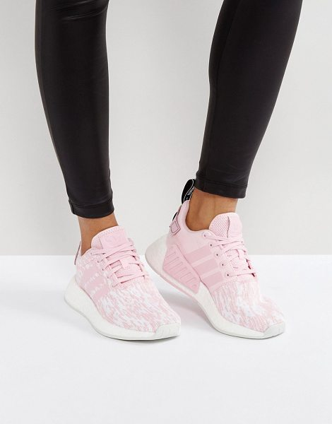 ADIDAS NMD R2 Sneakers In Pale Pink in pink - Sneakers by Adidas, Breathable mesh upper, Lace-up...