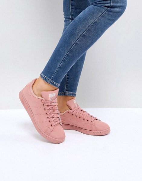 ADIDAS Pink Stan Smith Satin Quilted Sneakers - Sneakers by adidas, Textile upper, Lace-up fastening,...