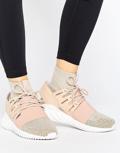 ADIDAS adidas Originals Pink Tubular Doom Sneakers - Sneakers by Adidas, Textile upper, Lace-up fastening,...
