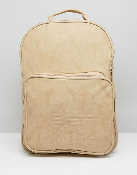 Adidas adidas Originals Premium Clean Logo Backpack in beige