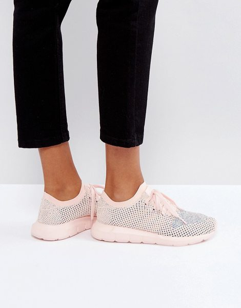 Adidas Originals Swift Run Primeknit Sneakers In Pale Pink in pink - Sneakers by adidas, Breathable Primeknit upper,...