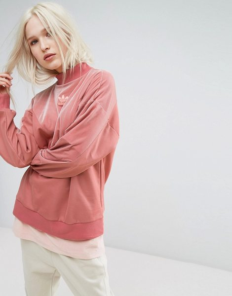 "Adidas Velvet Vibes Sweatshirt in pink - """"Sweater by Adidas, Soft-touch velvet, Turtle neck,..."