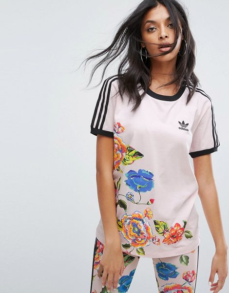 Adidas X Farm Floralita Tee in pink - T-shirt by Adidas, Collaboration with The Farm Company,...