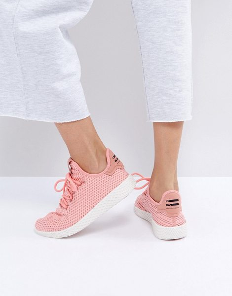 Adidas X Pharrell Williams Tennis HU Sneakers In Pink in pink - Sneakers by Adidas, Designed in collaboration with...