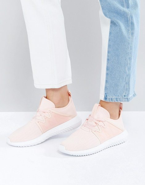 Adidas Originals Tubular Viral Sneaker In Pale Pink in pink - Sneakers by Adidas, Breathable mesh upper, Lace-up...