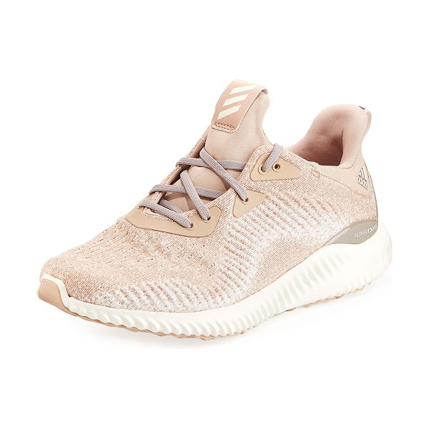 ADIDAS Alphabounce Engineered Mesh Sneakers in ash pearl/o white - adidas seamless perforated mesh sneaker, designed with...