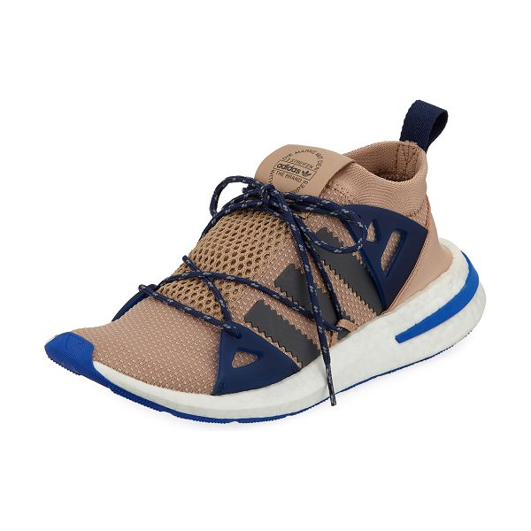 Adidas Arkyn Colorblock Mesh Sneakers in ash pearl grey - Adidas mesh-knit sneaker with rubber trim. Signature...