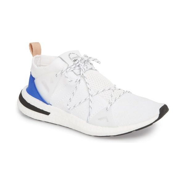 Adidas arkyn sneaker in white/ white/ ash pearl - Lightweight, breathable mesh brings runner-tech shape...