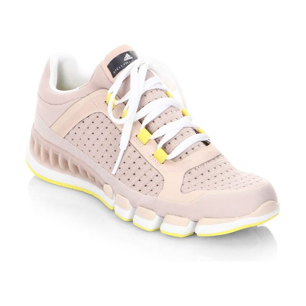 Adidas By Stella McCartney clima cool revolution sneakers in pearl rose - Lightweight perforated knit sneaker with contrast trim....