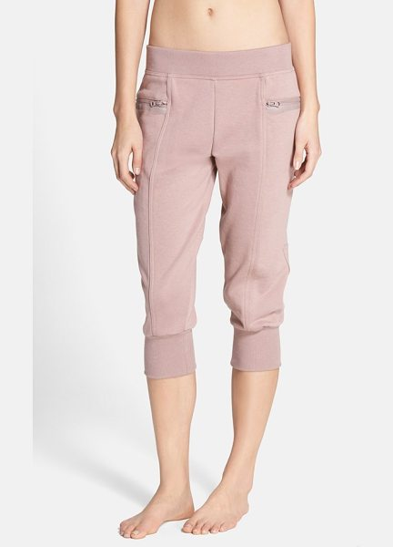Adidas By Stella McCartney ess french terry sweatpants in smoked pink - Tonal matte-polished rubber trim and a paneled...