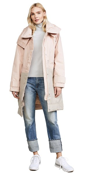 Adidas By Stella McCartney essentials long jacket in pearl rose - A quilted adidas by Stella McCartney jacket detailed...