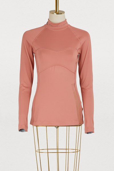 Adidas By Stella McCartney Long-sleeved training top in raw pink