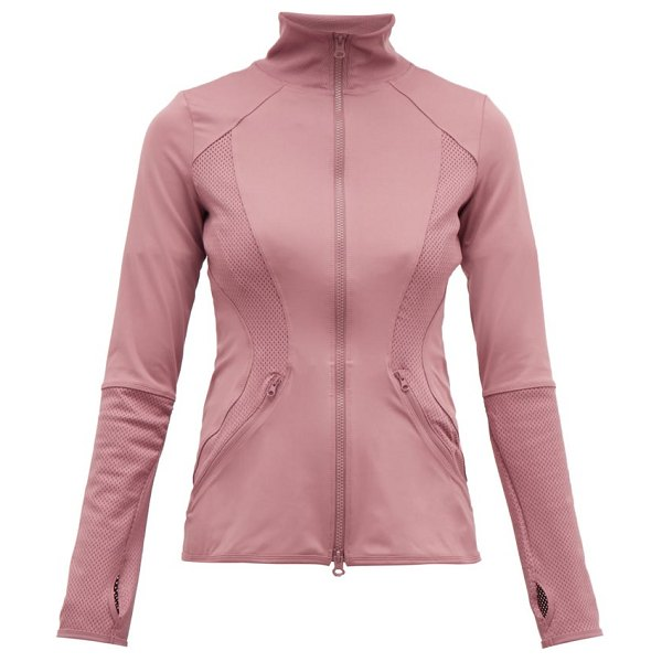 Adidas By Stella McCartney panelled technical performance jacket in pink