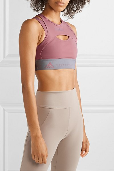 Adidas By Stella McCartney parley for the oceans hybrid layered stretch sports bra in blush