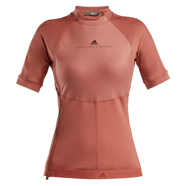 Adidas By Stella McCartney Adidas By Stella Mccartney - Run High Neck Zip Panelled Performance T Shirt in pink - Adidas By Stella McCartney - Adidas by Stella...