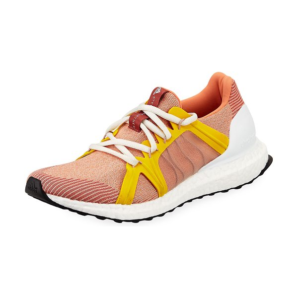 "Adidas By Stella McCartney Ultra Boost Knit Sneaker in apricot - adidas by Stella McCartney ""Ultra Boost"" textile..."