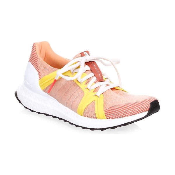 Adidas By Stella McCartney ultra boost performance sneakers in apricot rose - Textile sneakers featuring elasticized heel collar....