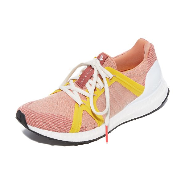 Adidas By Stella McCartney ultra boost sneakers in apricot rose/pearl rose/yellow - Colorful adidas by Stella McCartney sneakers composed of...
