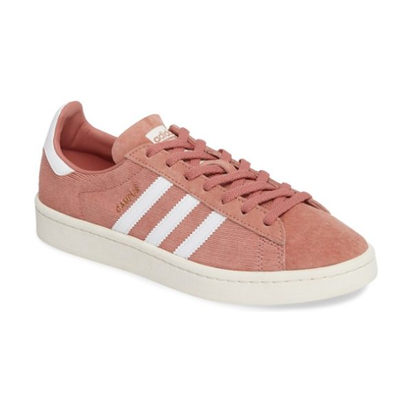 Adidas 'campus' sneaker in raw pink/ white - The iconic tennis shoe is updated in buttery-soft suede...