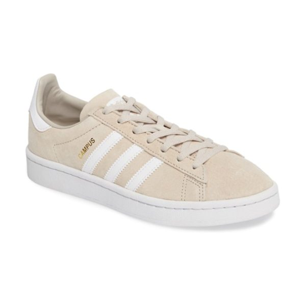 ADIDAS 'campus' sneaker - The iconic tennis shoe is updated in buttery-soft suede...