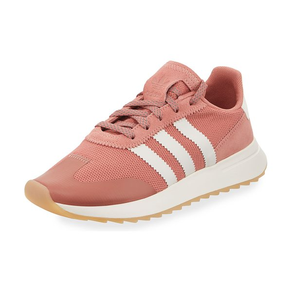 Adidas Flashback Mesh/Leather Sneakers in raw pink/white - Adidas mesh sneaker with leather and pinked trim....