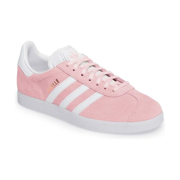Nordstrom x adidas gazelle sneaker in wonder pink/ white - Initially designed as a training shoe for top athletes...