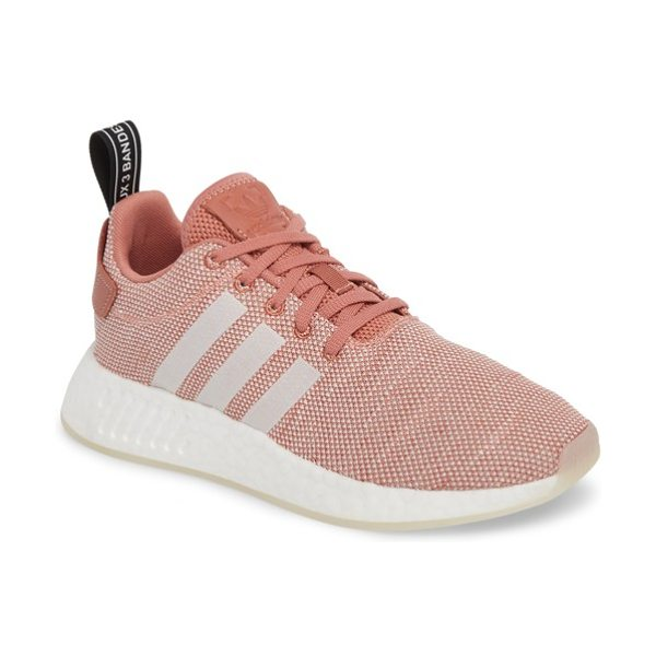 ADIDAS nmd r2 sneaker in ash pink/ crystal white/ white - A performance-tech knit brings all-activity comfort to a...