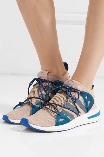 new styles ac562 2abe5 Adidas Originals arkyn rubber-trimmed mesh sneakers in blush - adidas  Originals Arkyn