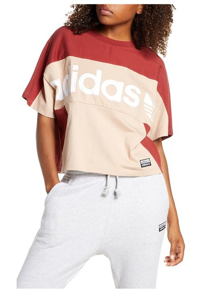Adidas Originals boxy tee in pink