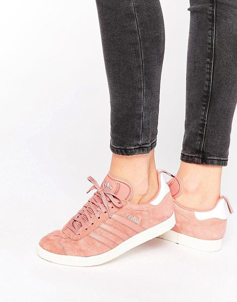 ADIDAS Originals dusky pink ponyskin gazelle sneakers - Sneakers by Adidas, Suede upper, Lace-up fastening,...