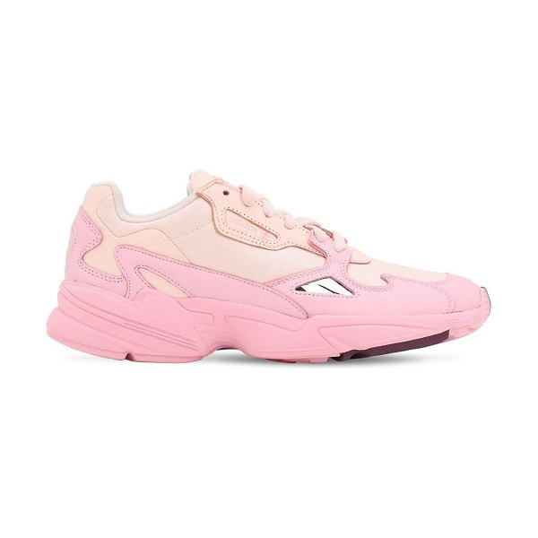 Adidas Originals Falcon w mesh & leather sneakers in pink,beige