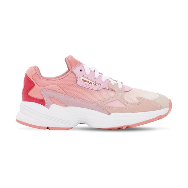 Adidas Originals Falcon w mesh & leather sneakers in pink