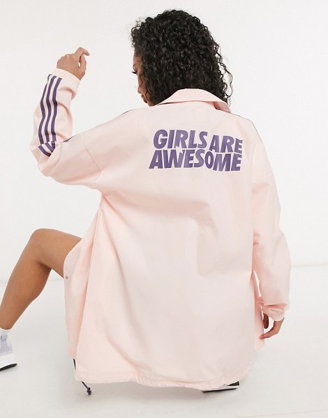 Adidas Originals girls are awesome jacket in pink in pink