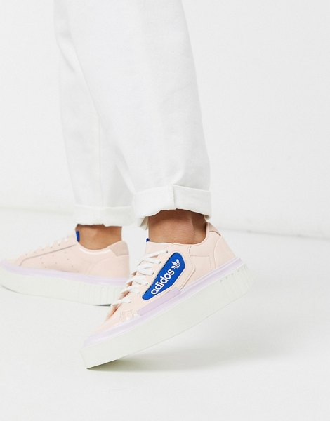Adidas Originals hyper sleek platform sneakers in pink in pink