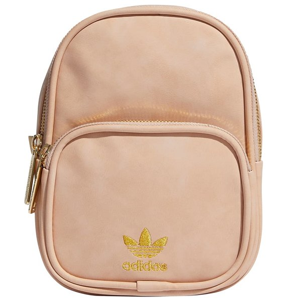 Adidas Originals mini faux leather backpack in pink