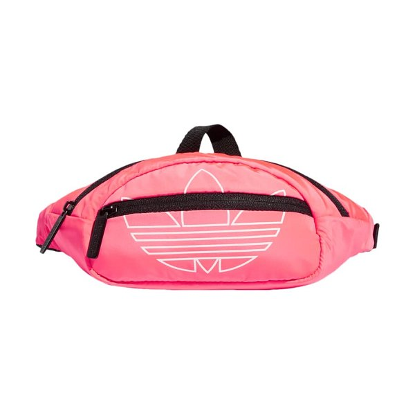 Adidas Originals national logo belt bag in pink