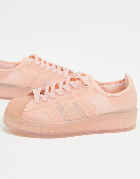 Adidas Originals superstar jelly sneakers in vapour pink in pink