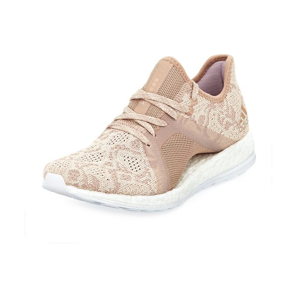 Adidas Pureboost X Element Mesh Trainer in ash peach