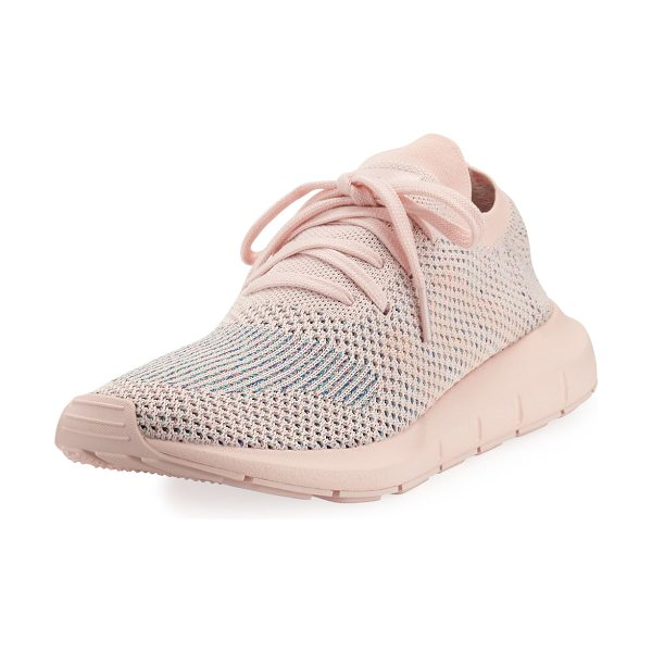 Adidas Swift Run Pk Knit Trainer Sneaker in light pink - Built for fast hiking on rugged terrain, these women's...
